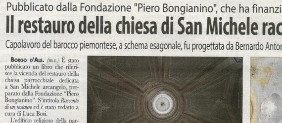 Il restauro della chiesa di San Michele raccontato in un libro